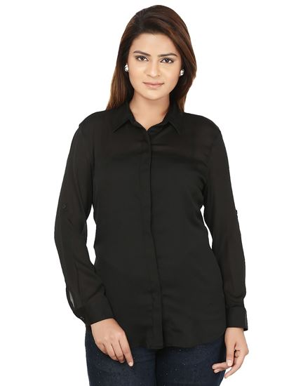 Picture of AK FASHION Black Solid Shirt