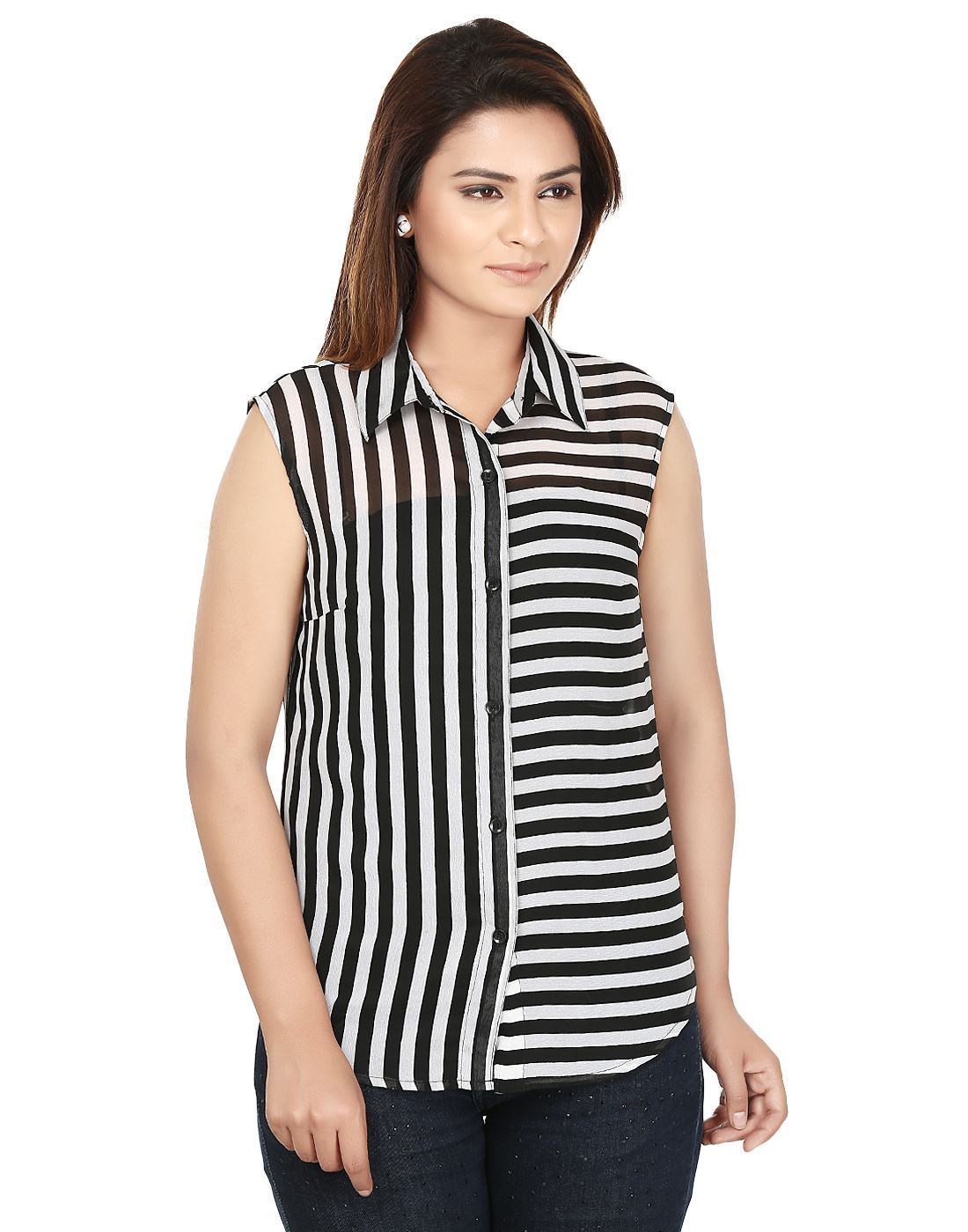 9f4c9381b1c Black And White Striped Shirt Female - raveitsafe