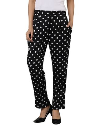 Picture of AK FASHION Black & White Trouser